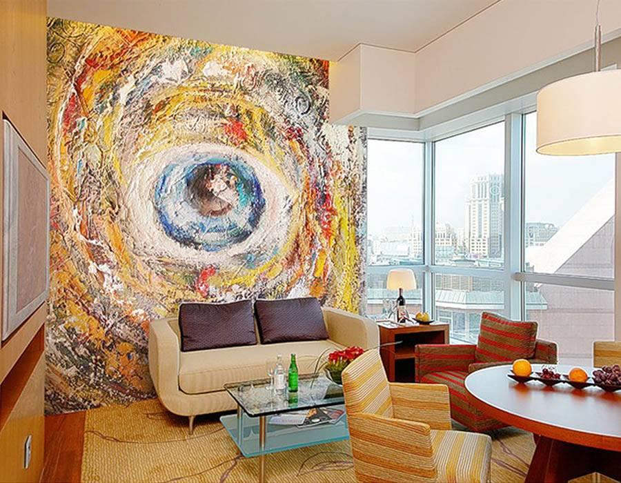 Стена над диваном в гостиной: топ-100 фото красивых идей оформления