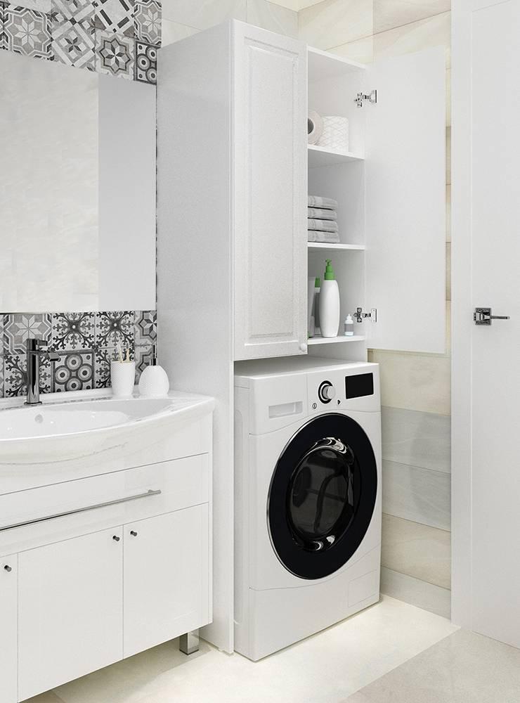 Как встроить стиральную машину на кухне и ванной в шкаф