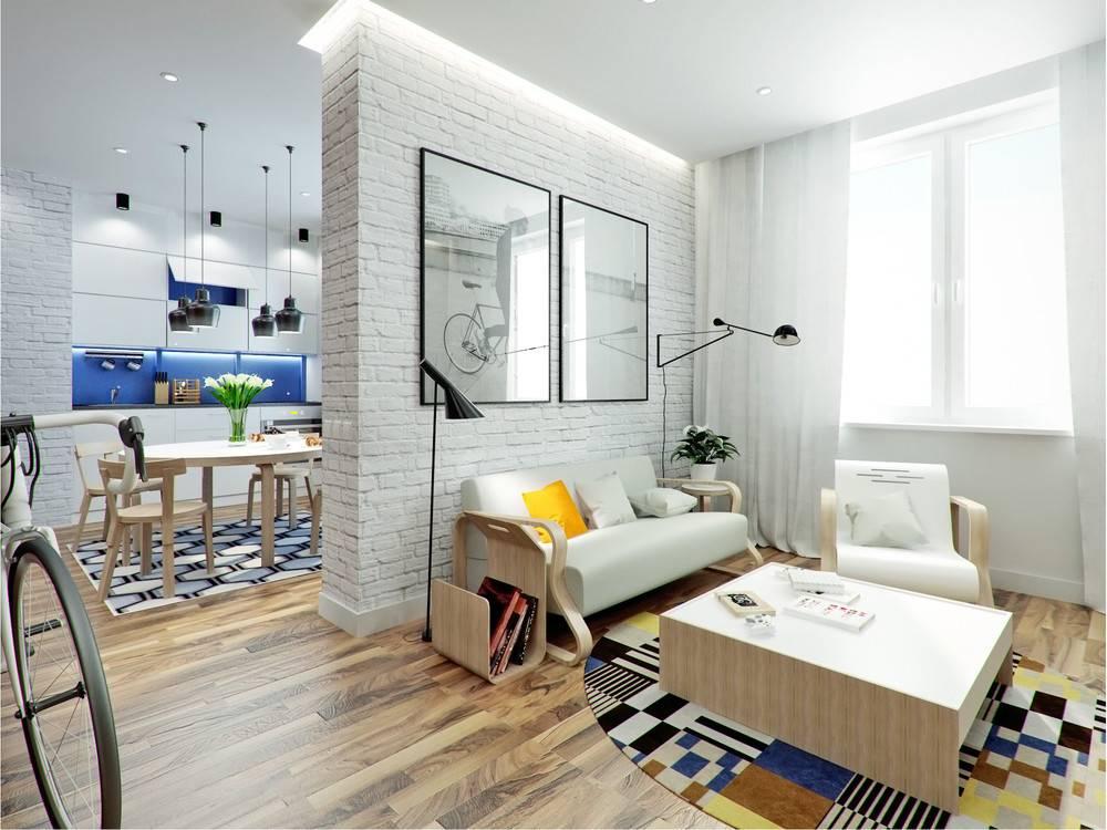 Дизайн однокомнатной квартиры 35 кв. м. - 110 фото лучших дизайнерских решений