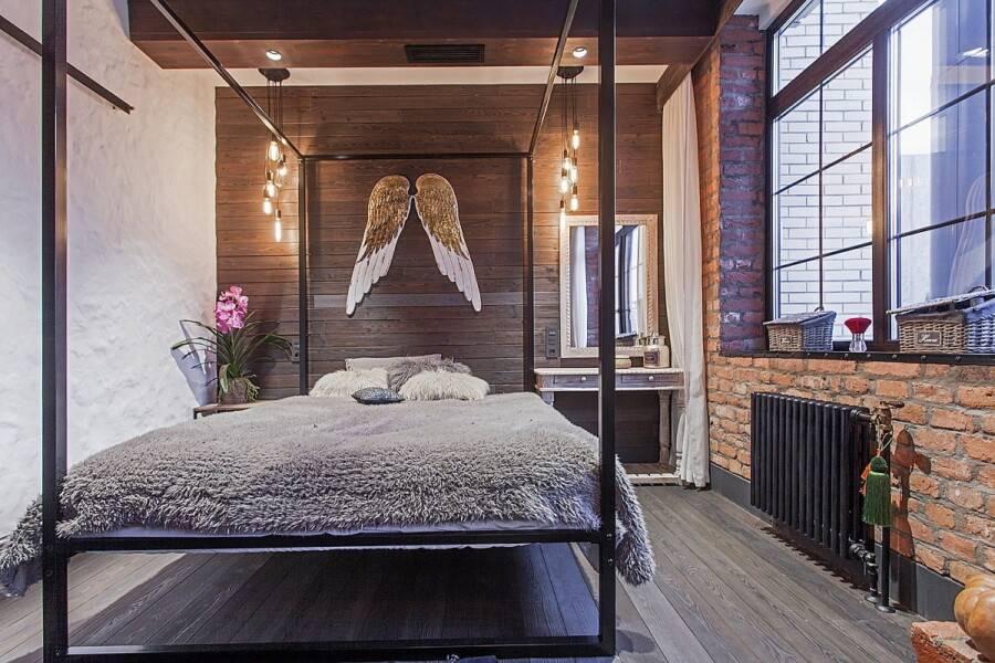 Комната в стиле лофт (45 фото): фото реальных интерьеров и особенности дизайна всех помещений, отделка стен и оформление мебелью и декором, белый кирпич