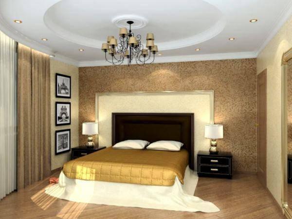 Натяжной потолок в спальне — готовые варианты оформления и нюансы использования современных конструкций (90 фото + видео)