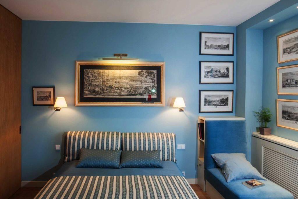 Синяя спальня: 125 фото новинок дизайна, сочетание синего цвета в интерьере, варианты оформления и зонирования