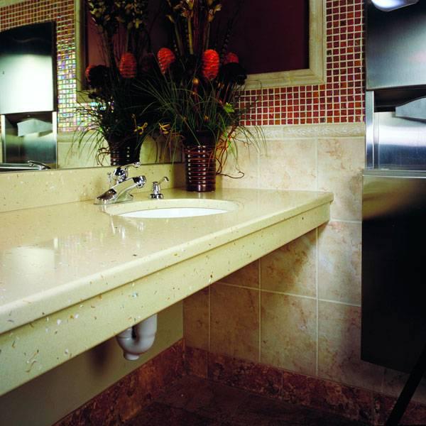Столешница для ванной комнаты из икусственного камня