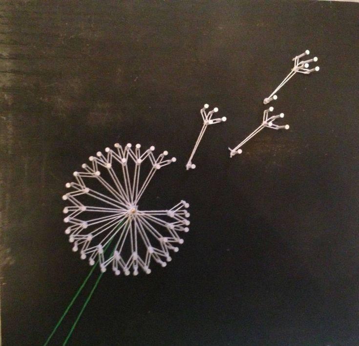 Техника стринг арт: создание картин из гвоздей и нитей