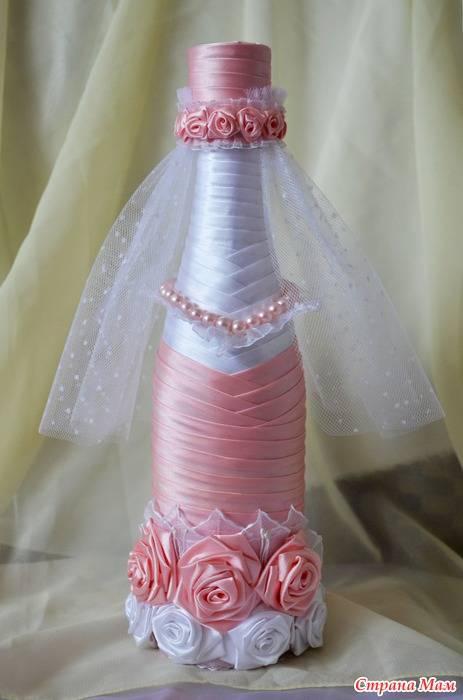 Как украсить бутылку шампанского? красивый декор своими руками на день рождения, украшение бутылок на новый год и другое оформление