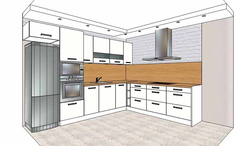 Дизайн маленькой кухни - 75 фото интерьеров, идеи, советы | современные и модные кухни