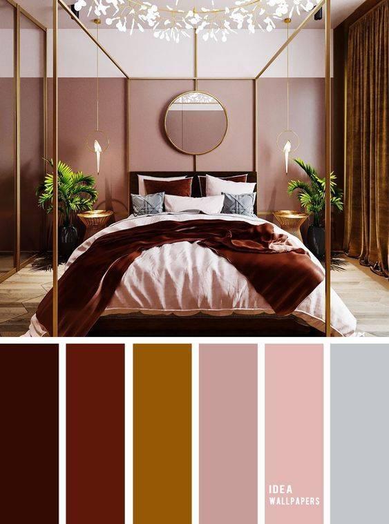 Спальня в коричневых тонах с мебелью: дизайн интерьера - 26 фото