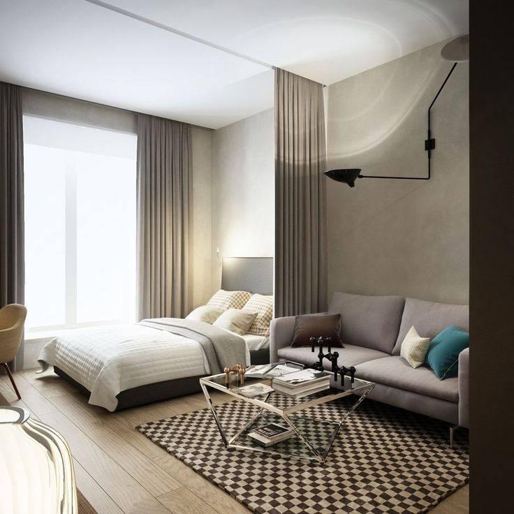Проекты и дизайн однокомнатной квартиры 35 кв м — фото в современном стиле с описанием способов отделки
