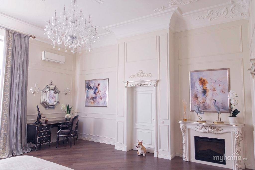 Лепнина в интерьере: фото примеры использования лепнины в квартире на стенах
