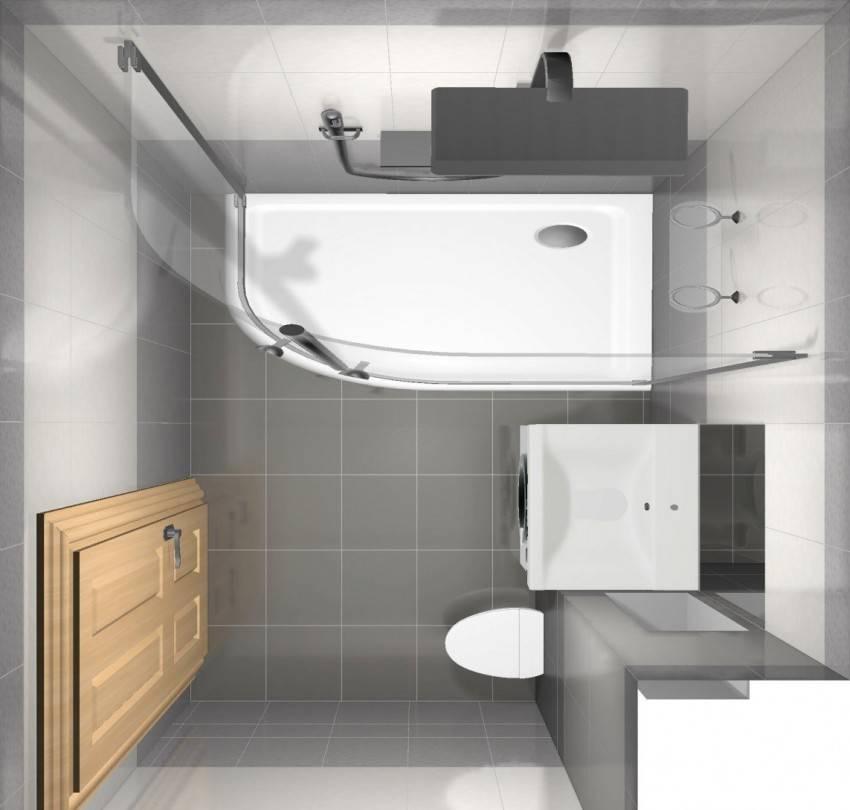 Дизайн ванной комнаты 5 кв м, совмещенного санузла с туалетом  - 39 фото