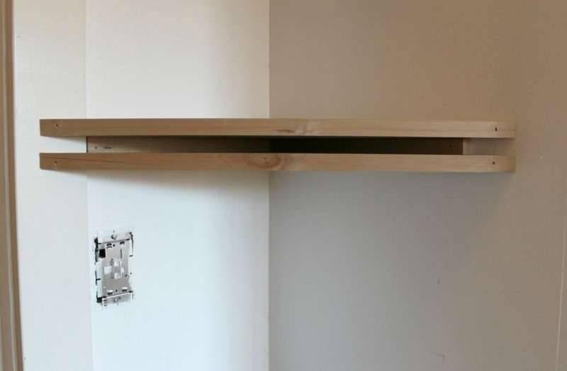 Полки в невесомости — парящая конструкция без видимого крепления на стене
