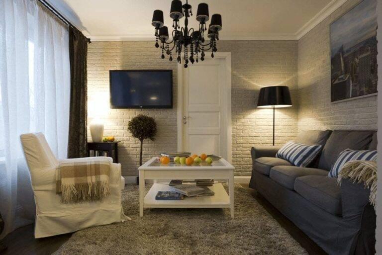 Дизайн маленькой гостиной 12 кв м: фото примеров интерьера комнаты