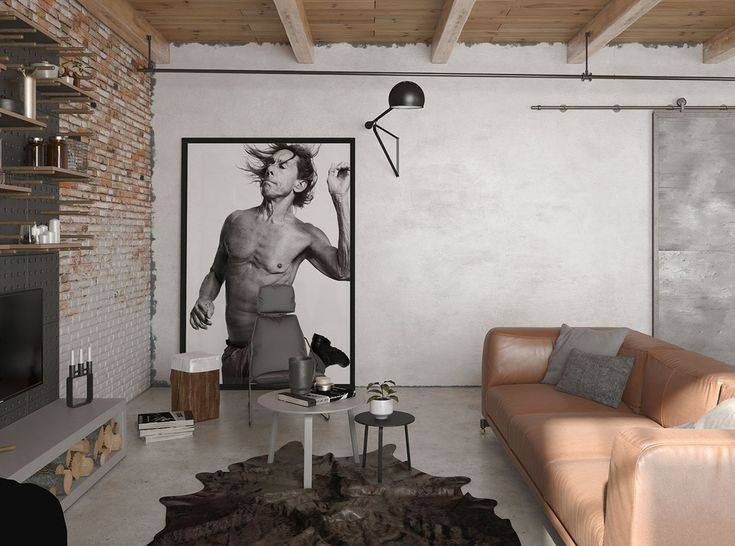 Дизайн интерьера квартиры в стиле лофт — 100 фото идей