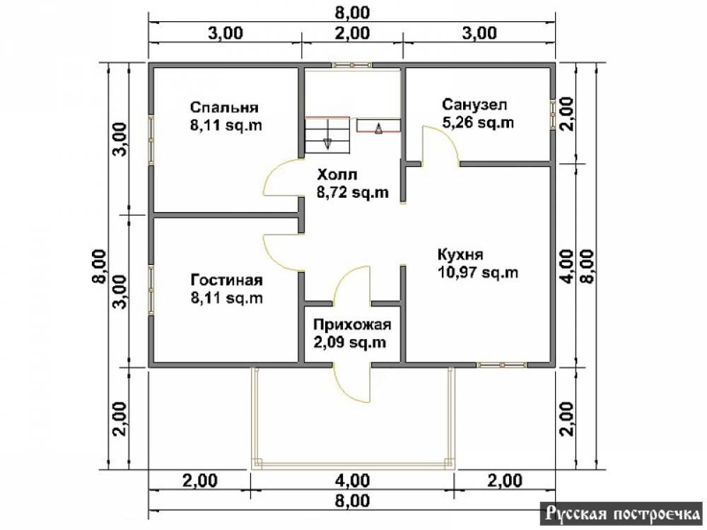 Проекты домов 6 на 8 с мансардой: особенности