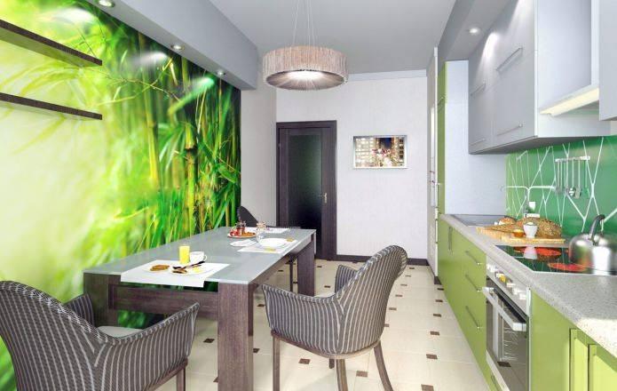 Обои для кухни - 125 фото идей и новинок дизайнакухня — вкус комфорта