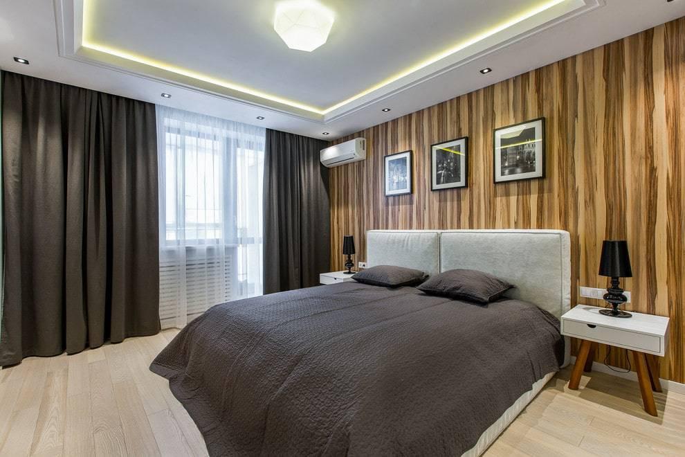 Потолки из гипсокартона для спальни, 70 фото идей.