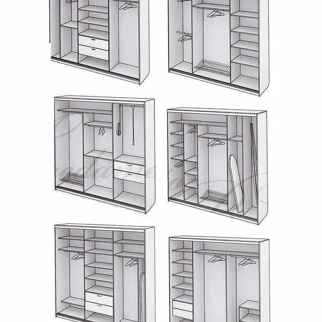 Фотографии примеров внутреннего наполнения шкафа-купе в прихожей интерьер и дизайн