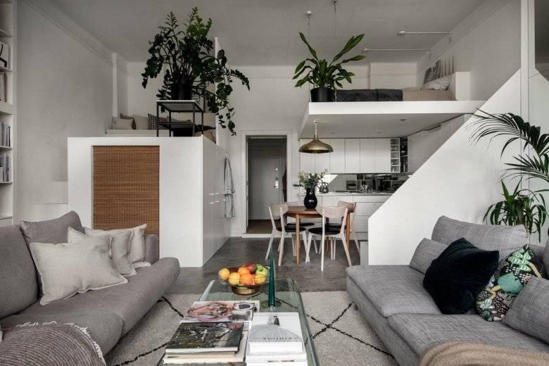 Дизайн студии 23 кв. м — планировка и интерьера +50 фото