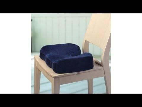 Ортопедическая подушка на стул - как выбрать лучшую, виды