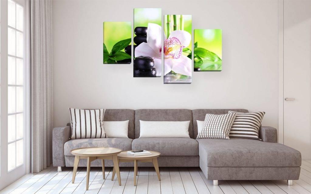 Картины в гостиную (как подобрать и разместить): лучшие идеи применения и советы по декору стен