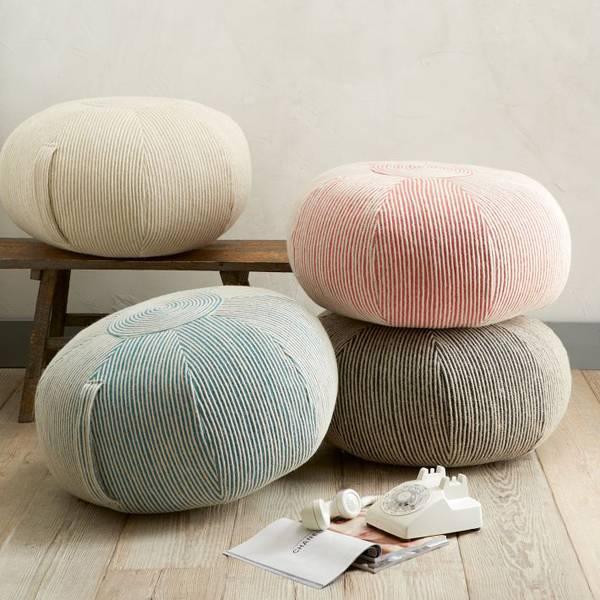 Красивые пуфики: оригинальный дизайн стильные идеи для мебели на фото