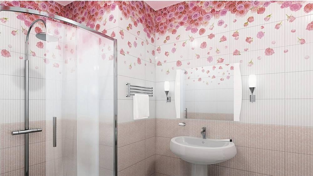 Дизайн ванной комнаты — отделка стен панелями пвх
