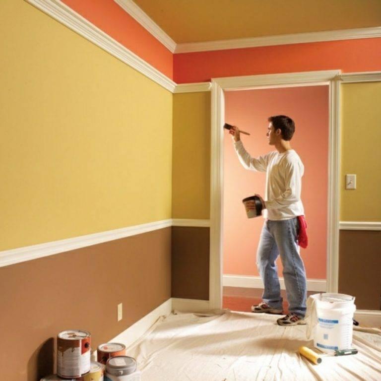 Техника покраски стен без разводов  и следов: как правильно покрасить водоэмульсионной и иными красками с помощью валика