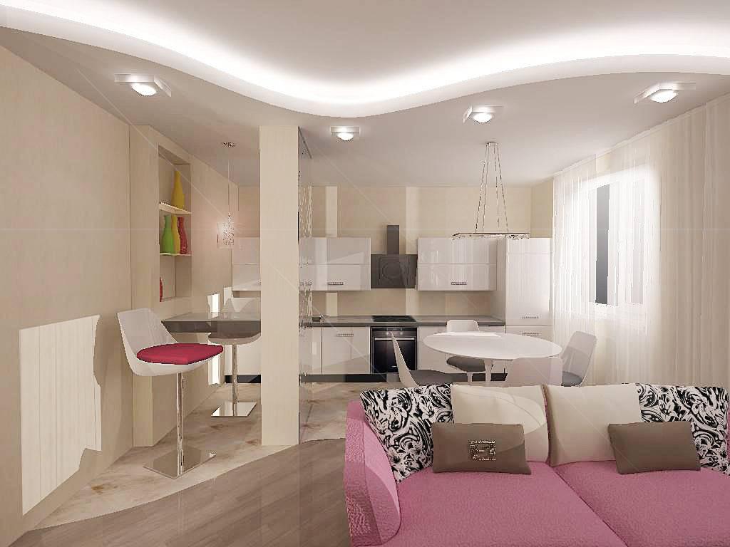 Дизайн кухни-гостиной 19 кв. м: как сделать красиво и удобно