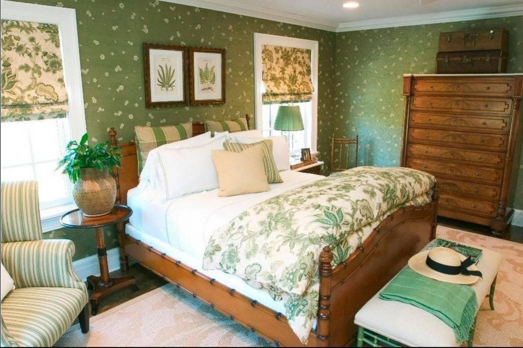 Спальня в зеленых тонах — мода или веление сердца