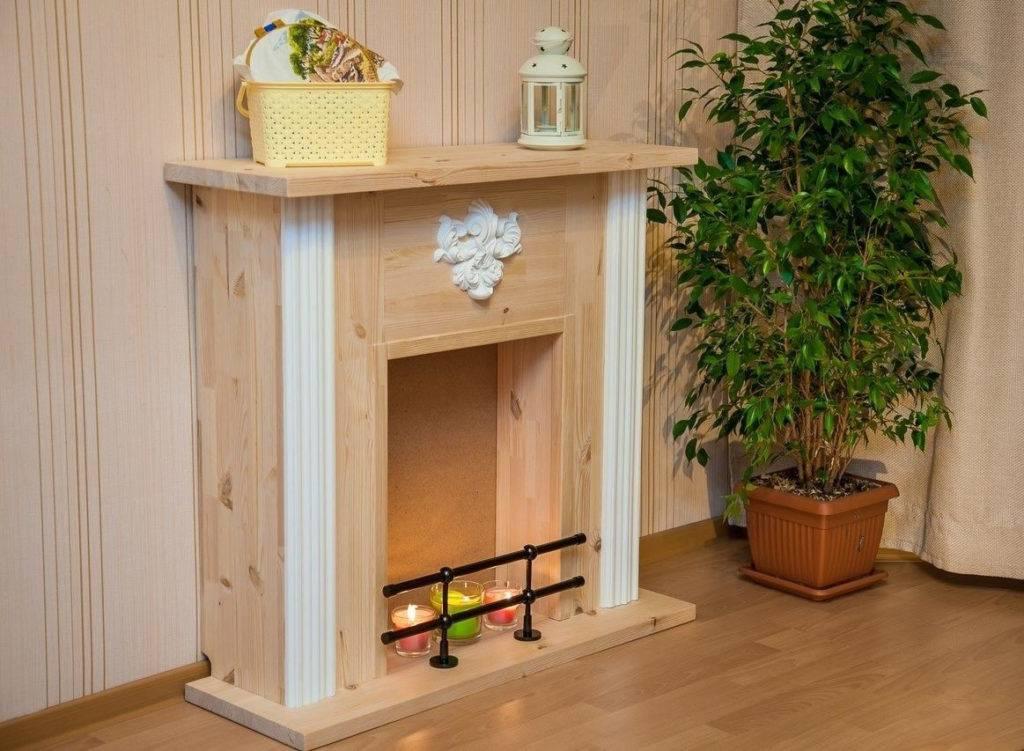 Декоративный камин из пенопласта своими руками: стили, пошаговая инструкция + фото