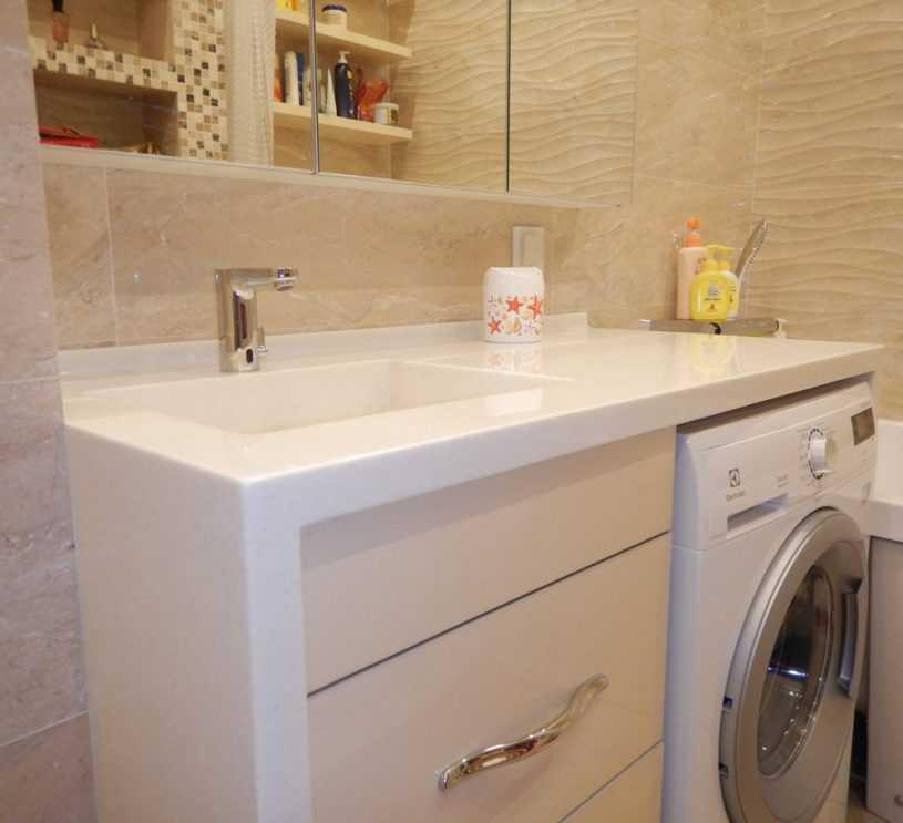 Столешницы для ванной из дерева и камня — какую выбрать столешницу под раковину?