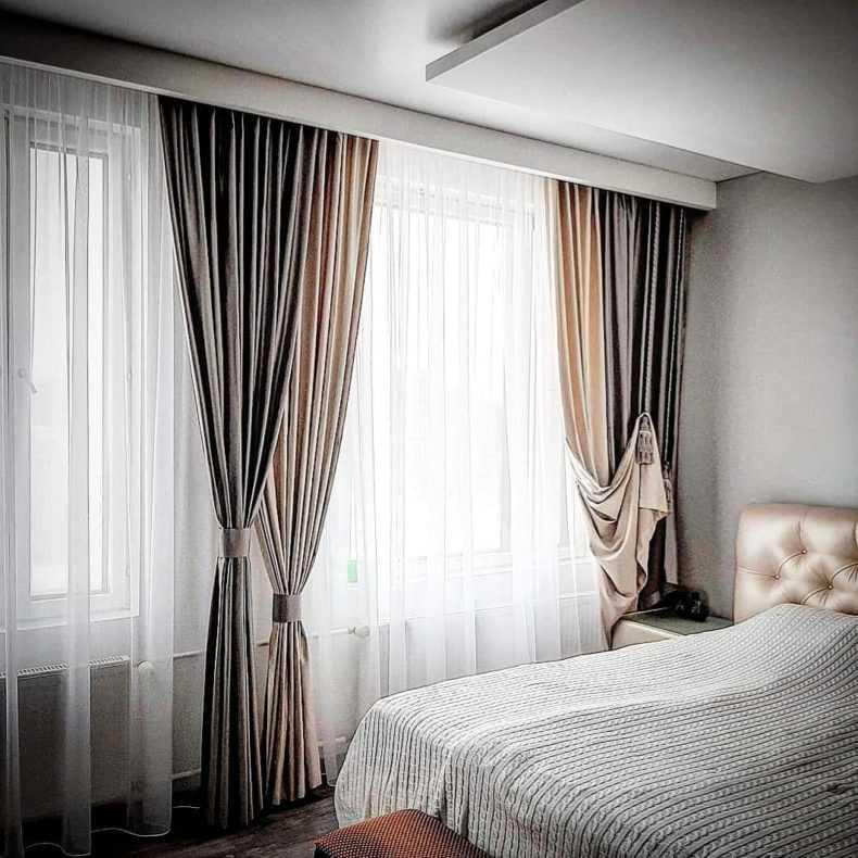 Тюль в спальню: топ-200 фото модных новинок 2021 года, красивый дизайн спальни в современном стиле без штор