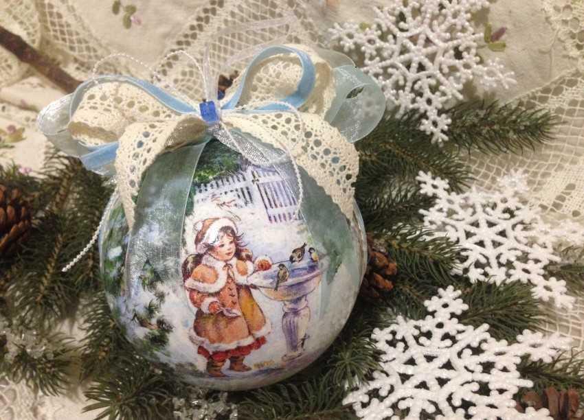 Новогодний декупаж шаров - идеи и мк женский мир