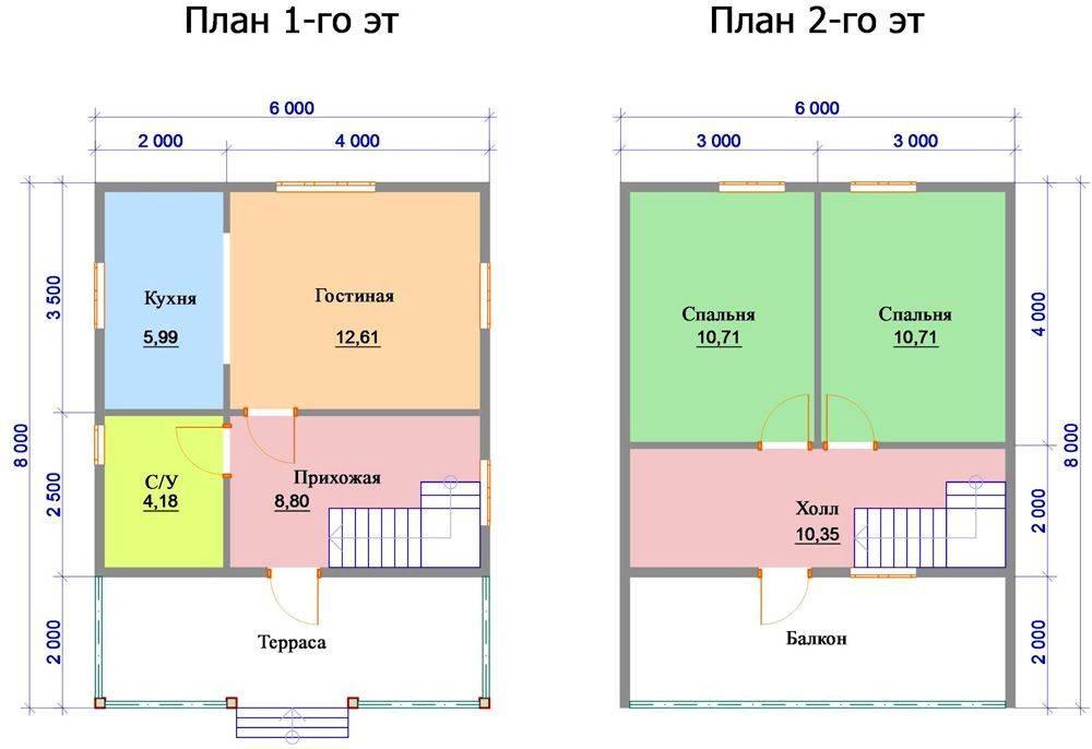 Дома из бруса 6 на 8 (52 фото): проекты одноэтажных и двухэтажных домов из профилированного бруса, планировка дачных домов с мансардой