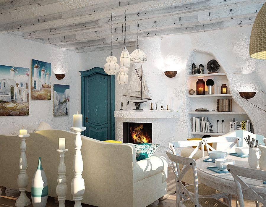 Греческий стиль в интерьере: ремонт и декор комнат, кухни, ванной и загородного дома в средиземноморском стиле, дизайн и мебель, картины и другое оформление