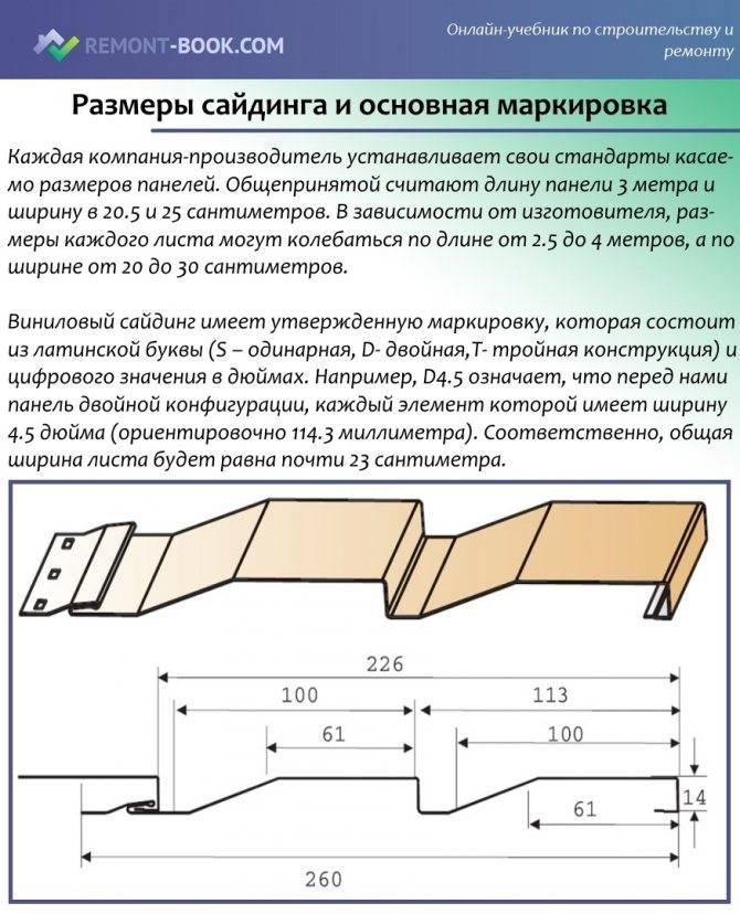 Какие бывают размеры сайдинга?