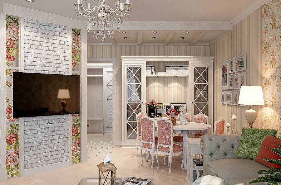 Стиль прованс в интерьере квартиры на фото