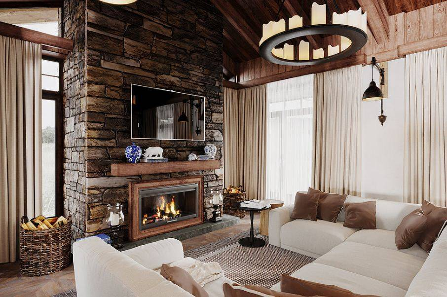 Интерьер гостиной в частном доме: лучше идеи дизайна. 140 фото бюджетных и дорогих интерьеров