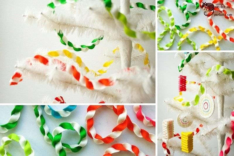 Новогодние гирлянды из бумаги своими руками: шаблоны, схемы, идеи с фото
