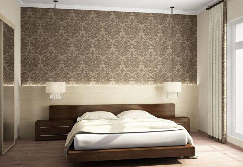 Комбинированные обои в спальню: разновидности, выбор и тонкости размещения