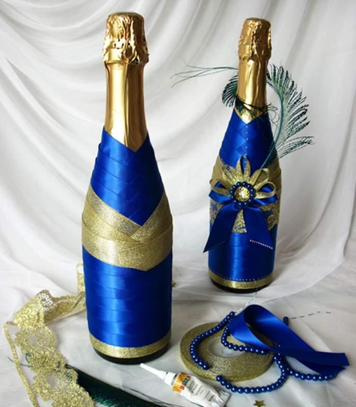 Декор бутылок своими руками: 80 фото идей для украшения бутылки