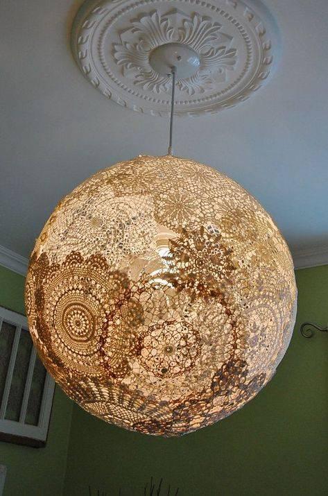 Декор абажура своими руками - варианты оформления из различных материалов с фото