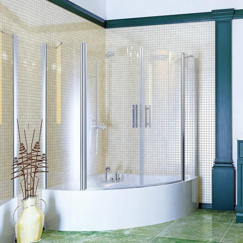 Атрибут ванной комнаты - ширма, ее назначение и основные разновидности