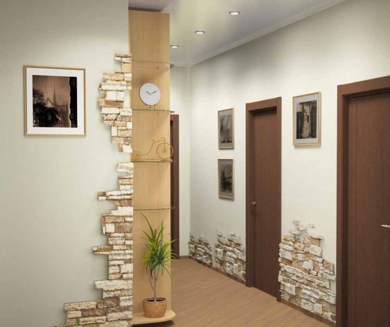 Как украсить стену в прихожей? 44 фото чем декорировать в коридоре? варианты декора из дерева и ламинатом, зеркальной плиткой и камнем, другие идеи