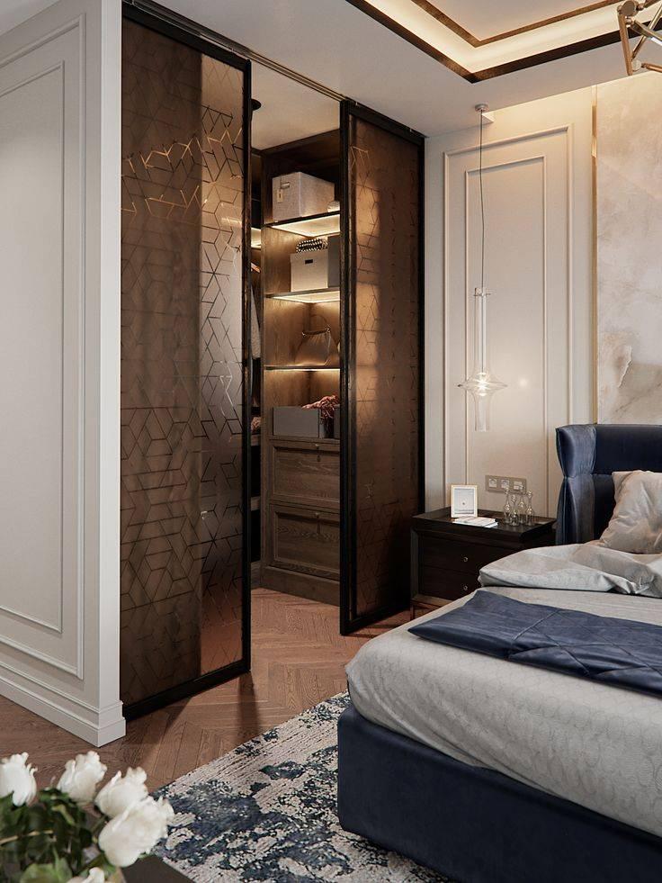 Гардеробная в спальне: практичные решения и фото готовых примеров, новинки дизайна, варианты размещения и планировки