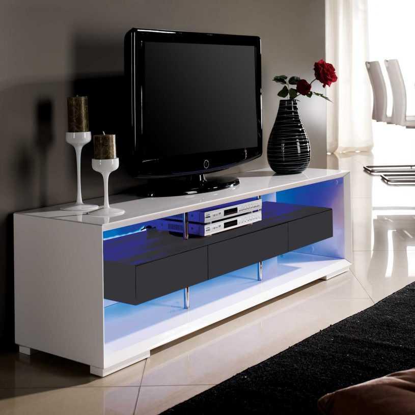 Подвесные тумбы под телевизор (60 фото): в современном стиле, белые и другого цвета настенные консоли, их размеры