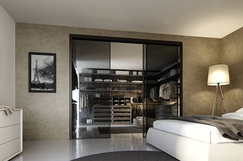 Шкаф-гардеробная в спальню: варианты размещения и дизайна в интерьере маленькой или большой спальни (135 фото идей)