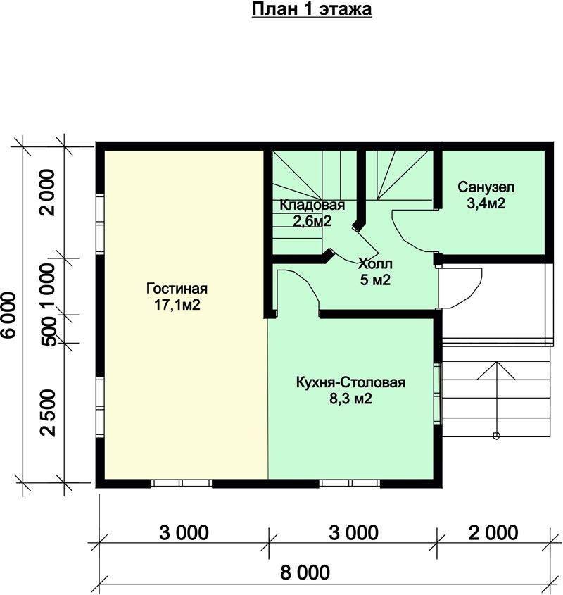 Дачный дом 6х8 (33 фото): проекты дома из пеноблоков и из газосиликатных блоков, с верандой и русской печкой внутри, с мансардой и другие