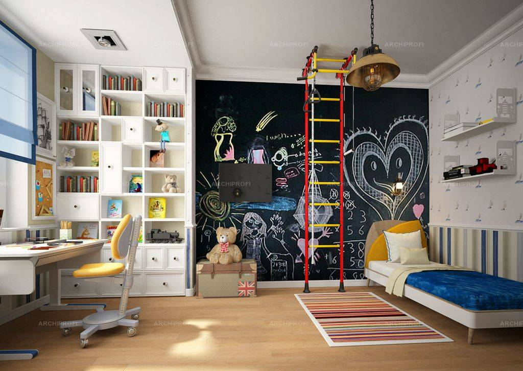Тонкости создания дизайна детской комнаты для мальчика и девочки