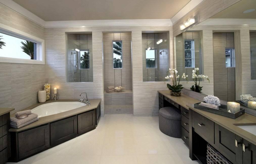 Ванная в частном доме - 80 фото оптимальных идей дизайна и украшения ванной